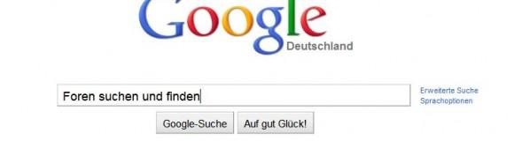 Quick-Tip: Foren in Google suchen und finden